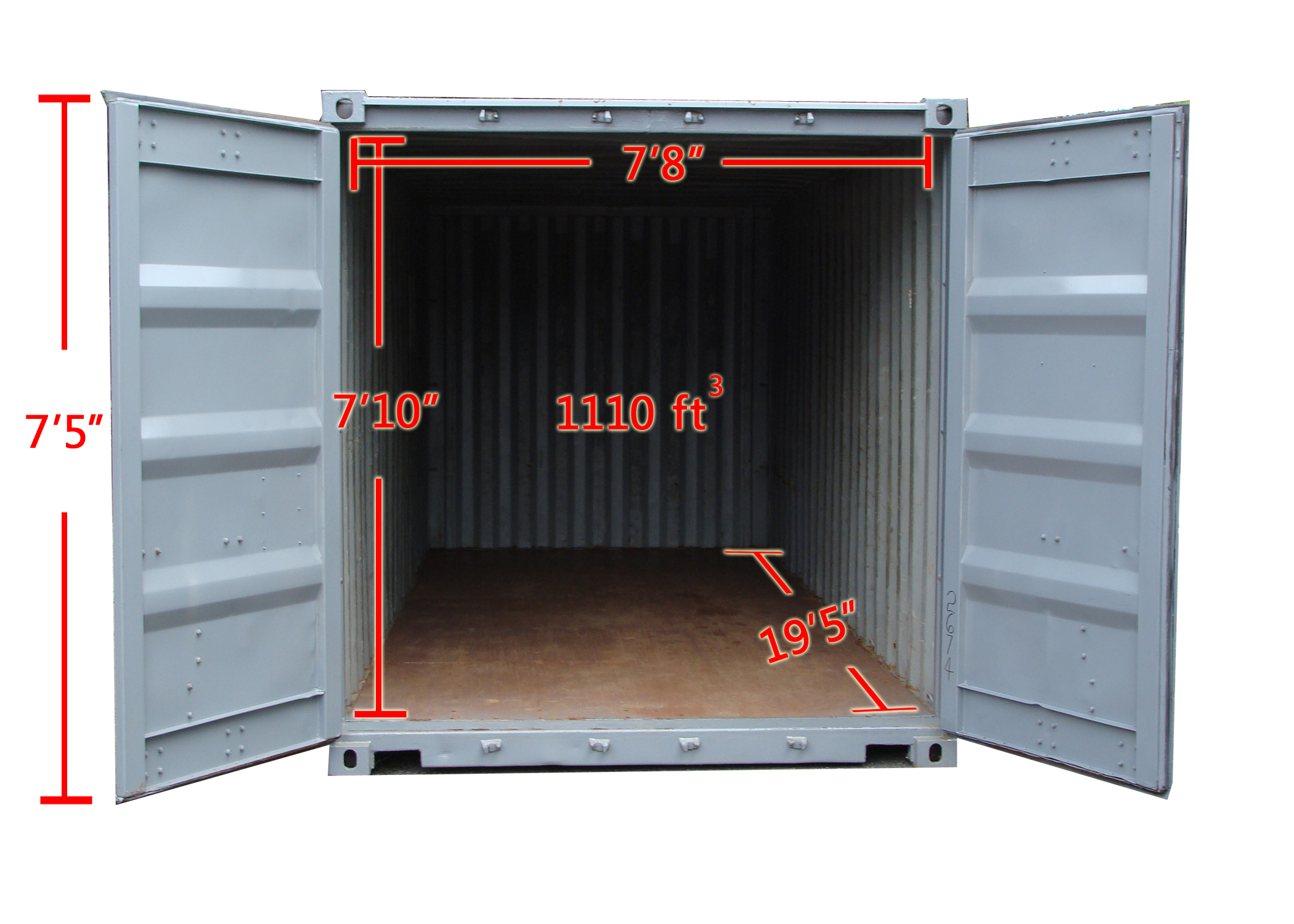 20 ft Storage Container Inner Dimensions in Connecticut | A.B. Richards  sc 1 st  AB Richards & 20u2032 Storage Container Rentals | A.B. Richards