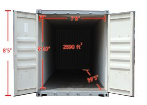 40ft Jumbo Storage Container Inner Dimensions