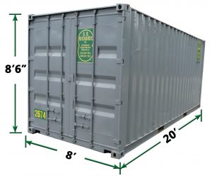 20ft Storage Container Dimensions from A.B. Richards in Ledyard CT