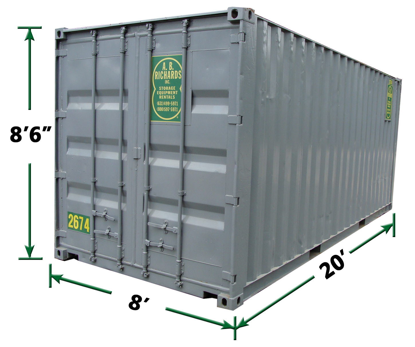 20' Construction Storage Container Rentals in NY by AB Richards
