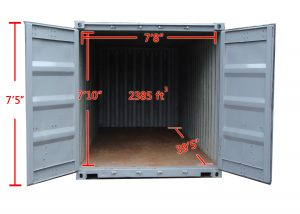 40 ft Storage Container Inner Dimensions in Queens | A.B. Richards