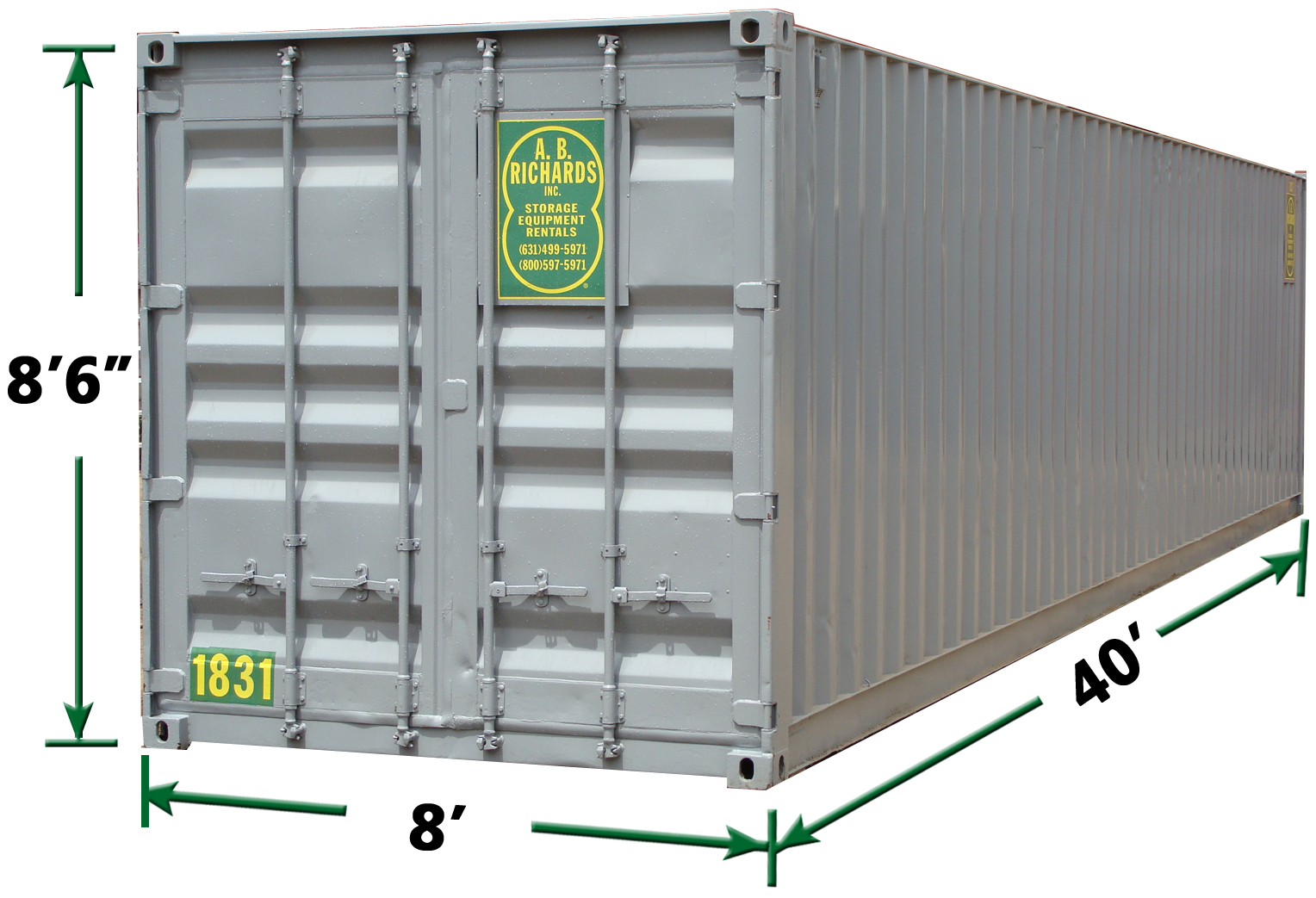 40' Construction Storage Container Rentals in PA by AB Richards