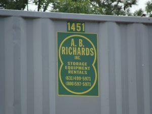 AB Richards Portable Storage Unit