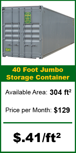 40ft storage price container from A.B. Richards