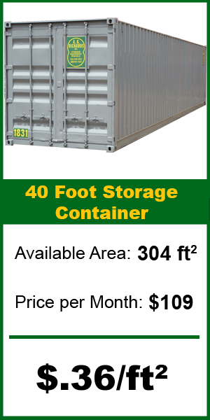 40ft storage container price from A.B. Richards
