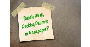 Bubble Wrap, Packing Peanuts or Newspaper for Packing by A.B. Richards