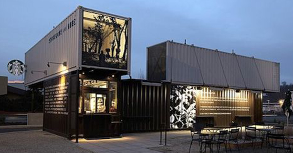 Alternative Uses for Storage Containers: Cafes