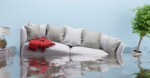 Couch sinking in water