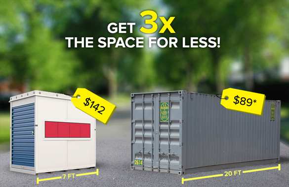 get 3x the space for less