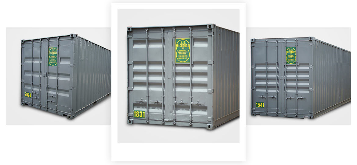 a.b. richards storage container rentals