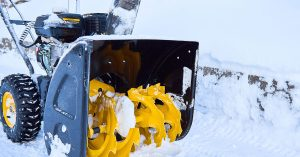 storing snow removal equipment