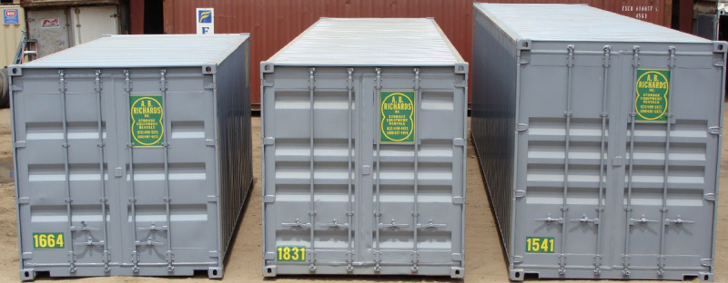 Storage Container Sizes from A.B. Richards